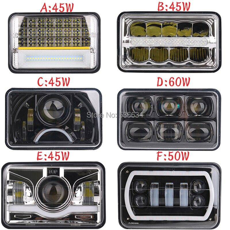 4 Uds. (4x6) luz LED cuadrada de trabajo de 5 pulgadas luz alta baja para Western Star 4900, Toyota Camry, Mazda 626, Chevrolet V10