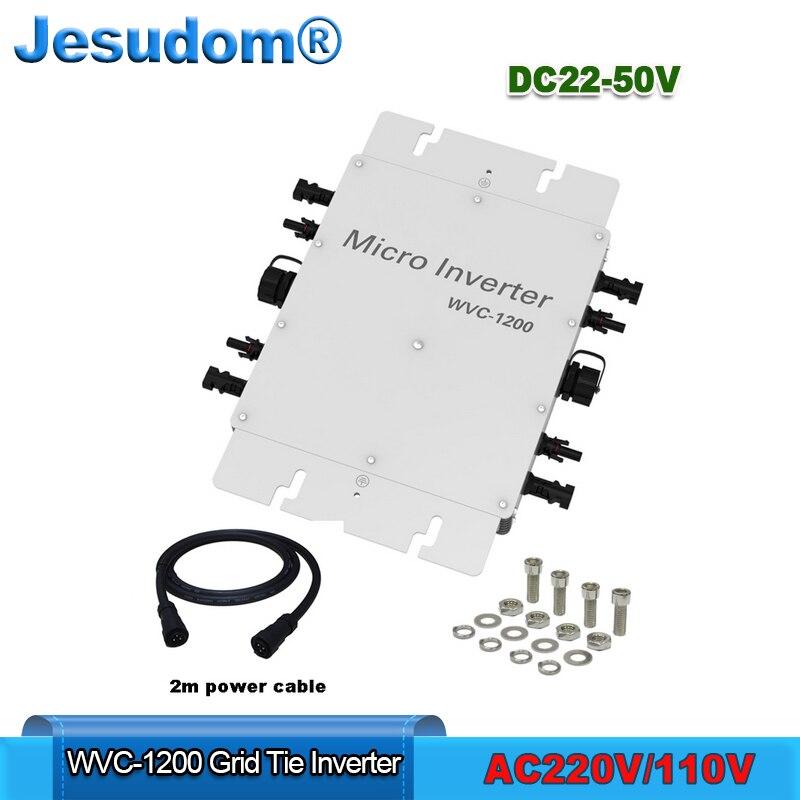 1200 Вт микро сетки галстук инвертора по ограничению на использование опасных материалов в производстве электрического и электронного оборудования Синусоидальная волна Выход Вход DC22-50V для AC180-260V AC220/230/240V Водонепроницаемый IP67 солнечный конвертер