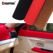 30*152 см Высококачественная бархатная замшевая ткань, материал, наклейка на автомобильную пленку, самоклеящаяся пленка для автомобильного интерьера/внешнего стайлинга автомобиля