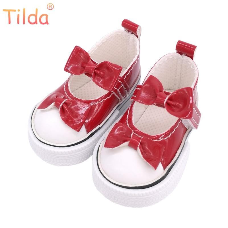 Tilda 6cm sapatos para bonecas paola reina, sapatos de chinelo bonito para bonecas corolle minifee bjd arco design sapatos para bonecas acessórios