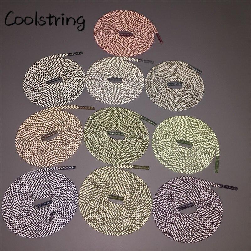 ¡Novedad! Cordones reflectantes Coolstring de 3M a la moda, cordones de cuerda para zapatillas deportivas, cordones atléticos para niños para botas V2 350 750