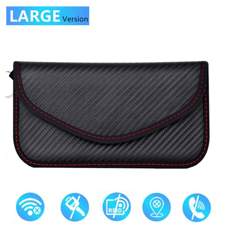 Signal Blocking Bag Cover Signal Blocker Case Faraday Cage Pouch For Keyless Car Keys Radiation Protection Cell Phone
