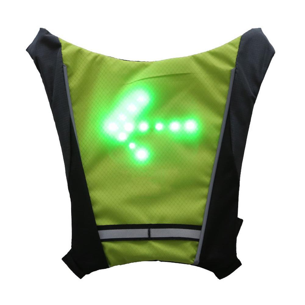Новинка 2019 светодиодный беспроводной жилет для велоспорта 20л MTB велосипедная сумка безопасный светодиодный светильник с сигналом поворота...