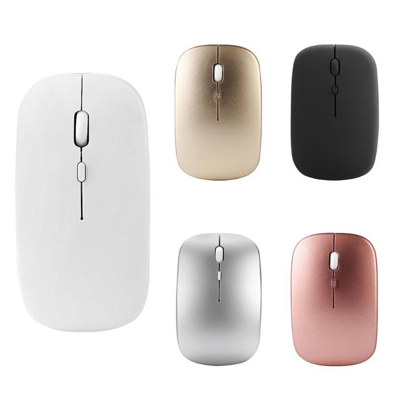 W8 2,4G inalámbrico recargable delgada silencio ratón 1600 DPI 4 llaves 10 m los ratones ópticos para el ordenador portátil de escritorio para min7/8/10/XP/Vista
