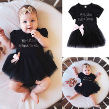 Pudcoco Girl Dress Cotton Newborn Baby Girls Kids Toddler Outfits Summer Tutu Lace Dress Sundress 0-24M