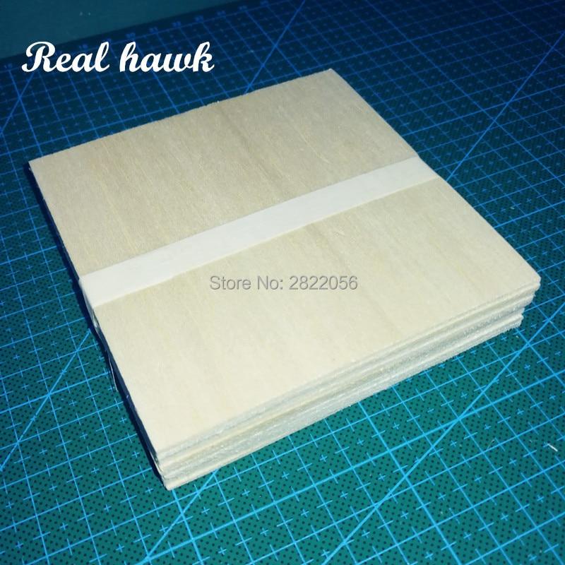 20pcs AAA+ Balsa Wood Sheets 100x100x2mm Model for DIY RC model wooden plane boat material