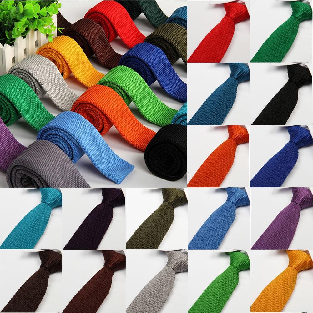 Corbata de Hombre a la moda, corbatas de tejido liso de punto,...