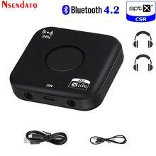 Adaptateur de récepteur Audio sans fil, Bluetooth 4.2, B7 Plus, CSRA64215, récepteur de musique Bluetooth sans fil, aptx, à basse latence, 3.5mm,