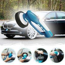 HLZS-Car Polishing, Mini Cordless Car Polisher Handheld Electric Car Cleaner Machine Waterproof Tool Set US Plug(Blue)
