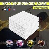 4PCS 50x50x5cm Studio Acoustic Foam Soundproof Foam Sound Absorption Treatment Panel Tile Wedge Protective Sponge