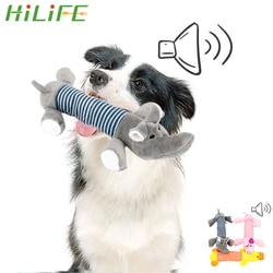 HILIFE смешные плюшевые игрушки собака кошка флисовые игрушки долговечность писк звук жевания Куклы Слон утка свинья подходит для всех домашних животных Товары для домашних животных