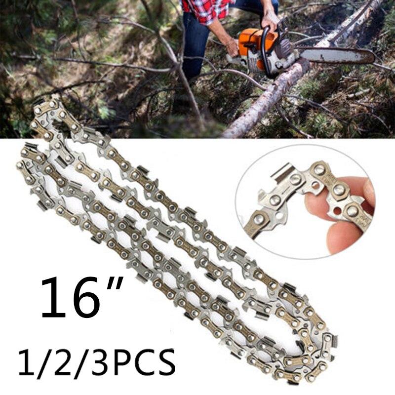 """1/2/3pcs 16"""" Metal Chainsaw Saw Chain Blade 3/8LP .043"""" Gauge 56DL For DCC690M1 DCCS690 ES300"""