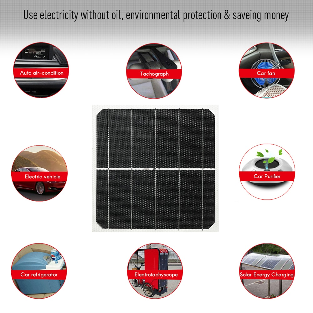 DIY Small Size Solar Panels 5W 1V ETFT Honeycomb Surface 25 Percent Conversion Rate Solar Panel System for Car RV Homeuse
