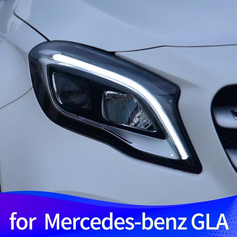 Headlight Assembly for Mercedes-Benz GLA  2015-2019  unlock a touch of blue daytime running light full LED light source