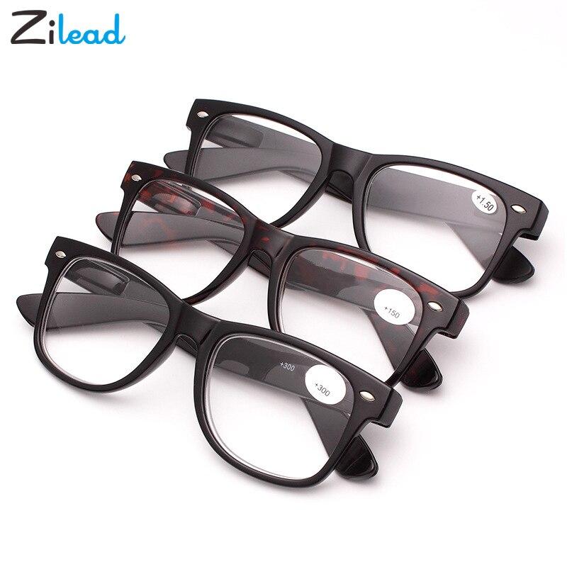 Óculos de leitura de unhas de arroz de resina zilead feminino de plástico quadro completo ultraleve dureza confortável retro hyperopia