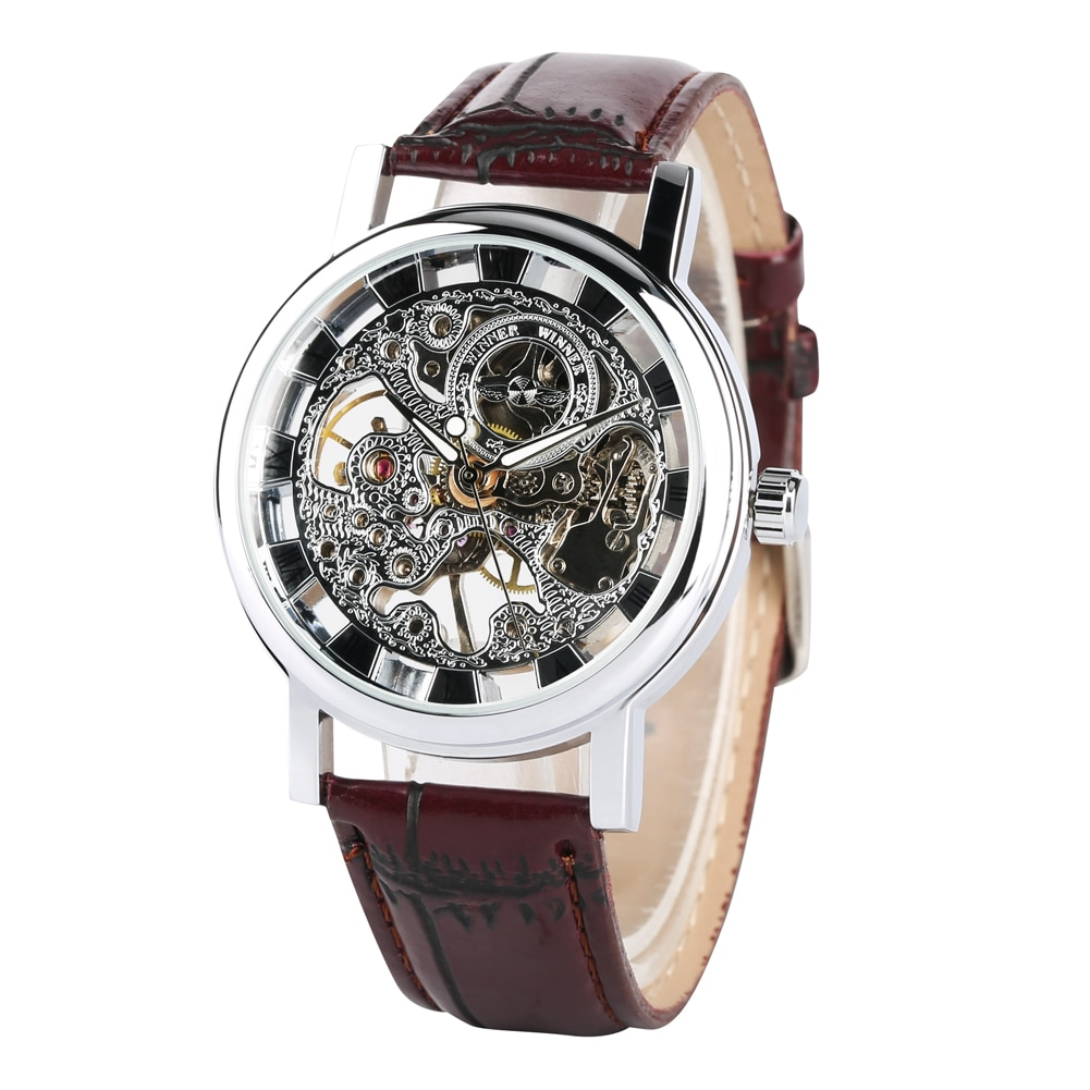 Relógio de Pulso Relógio de Negócios Topo da Marca Mecânico Masculino Mão-vento Presentes Relojes Hombre