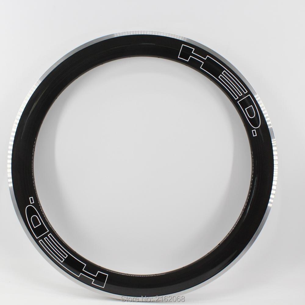 New black logo 700C 60mm Road bike 3K UD 12K carbon fibre bicycle wheels carbon clincher rim with alloy brake surface Free ship