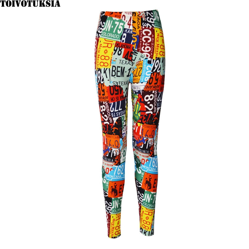 TOIVOTUKSIA, Leggings para mujer, pantalones negros, Leggings sexis con estampado de moda para mujer, leggins para mujer de primavera 2016, patrón de leche negra