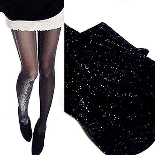 Gran oferta, medias altas brillantes de moda sobre la rodilla, medias altas brillantes, medias altas sexis de Nylon, ofertas de viernes negro