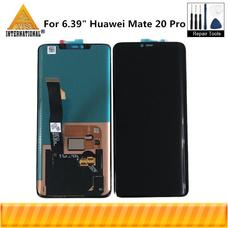 Pantalla LCD Original Axisinternational de 6,39 pulgadas para Huawei Mate 20 Pro AMOLED + Huella Digital + digitalizador táctil para Mate 20 Pro