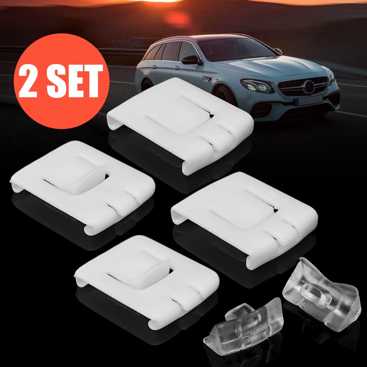 2 juegos de 6 piezas siut hebilla de asiento Clip guía corredor 435881203A C10 para VW GOLF MK1 MK2 MK3 CORRADO SCIROCCO plástico blanco