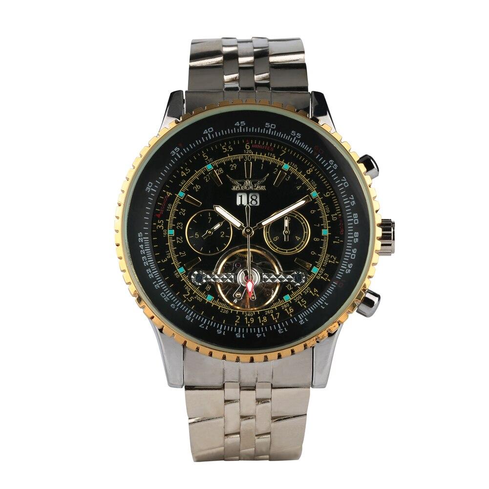 Relógio de Pulso de Quartzo Fecho de Aço Presentes de Aniversário Relógio Masculino Multi-função Dobrável Inoxidável Cinta