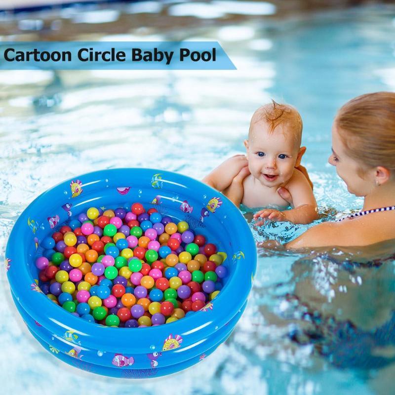 Bebê dos desenhos animados piscina inflável macio almofada inferior ao ar livre ambientalmente pvc crianças bacia redonda banheira
