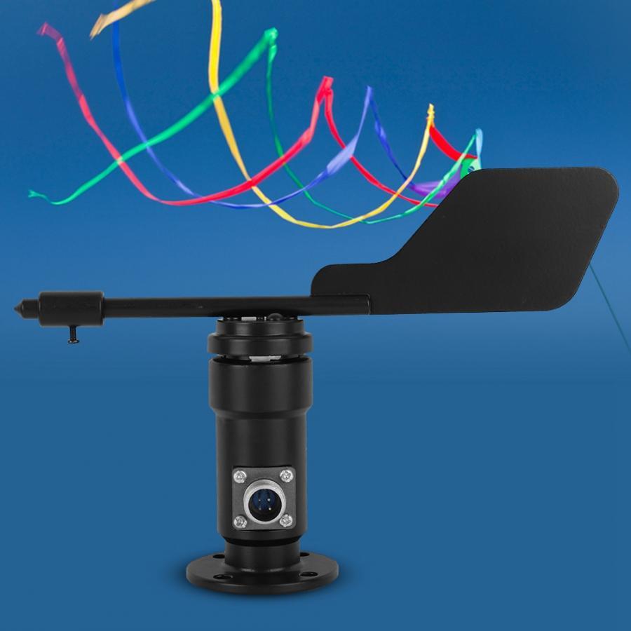 Sensor de viento salida de señal de jardín aleación de aluminio Sensor de dirección del viento Veleta velocidad instrumento de medición