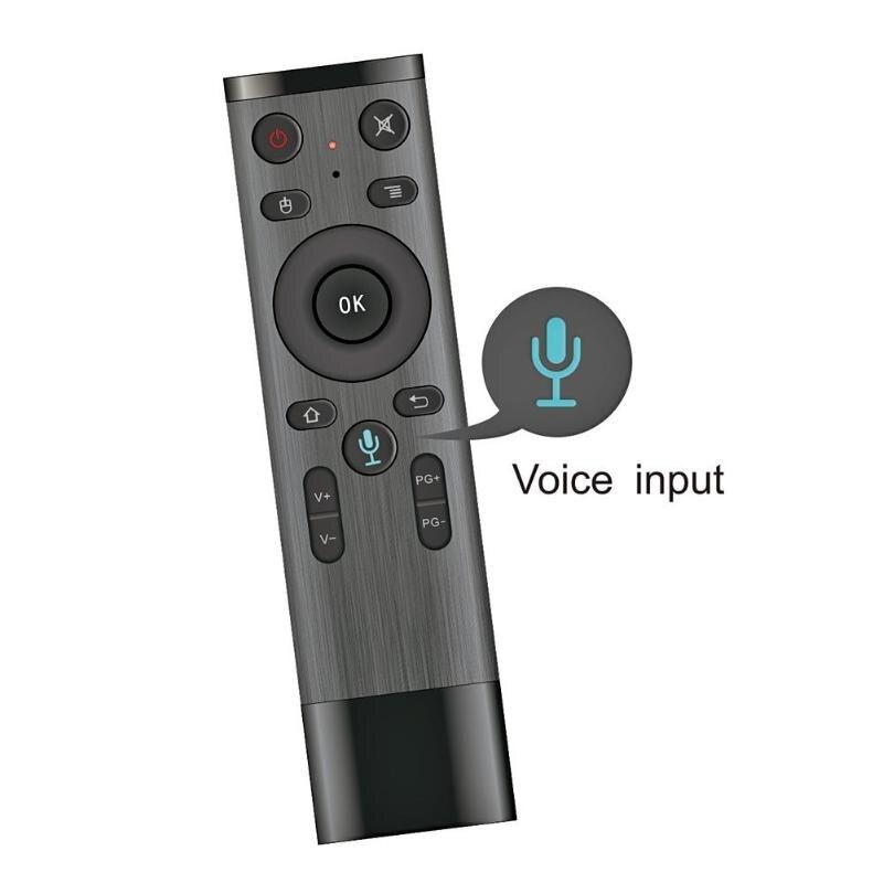 ALLOYSEED Q5 Voz TV Control remoto Fly Air ratón inalámbrico de 2,4 GHz micrófono inteligente de Control remoto para TV inteligente caja de Android PC