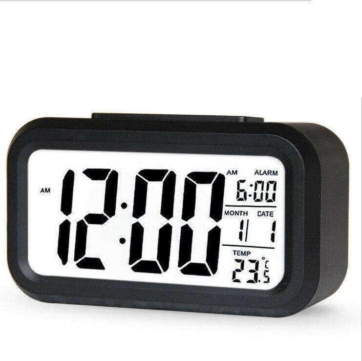 2019 creative lazy electronic clock Upgrade temperature version silent clock  fashion sensitive smart alarm clo
