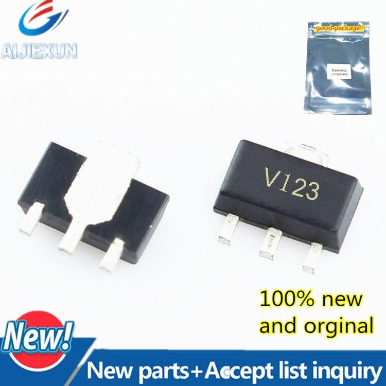 2 piezas 100% nuevo y original GVA-123 + SOT89 pantalla de seda V123 en stock