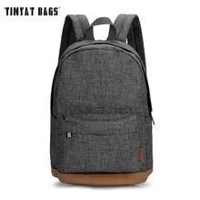 TINYAT hommes mâle toile sac à dos gris décontracté sacs à dos 15 pouces sacs à dos dordinateur portable collège étudiant sac décole sac à dos femmes Mochila