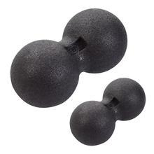 Mini Peanut-shape Fitness Gym Dumbbell Self-massage Ball Shoulder Back Legs Rehabilitation Training Ball Duo Ball Exercise Tool