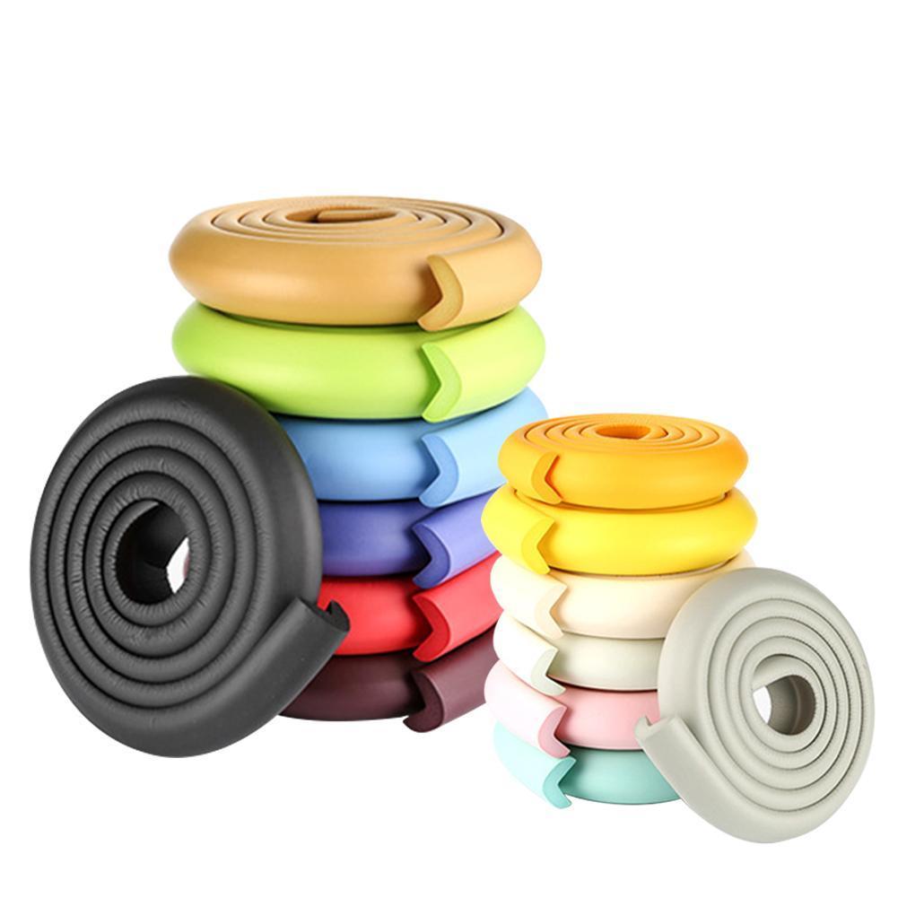 Barra de esponja con cinta Anti choques esponja de seguridad para niños escritorio protección de la esquina de la Mesa bebé Protector barras de esponja