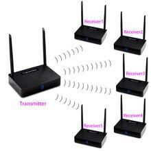 Extensor inalámbrico measy HD595 1TX + 5 RX HDMI 450m compatible con 1080P con transmisión de señal IR (transmisor y receptor)