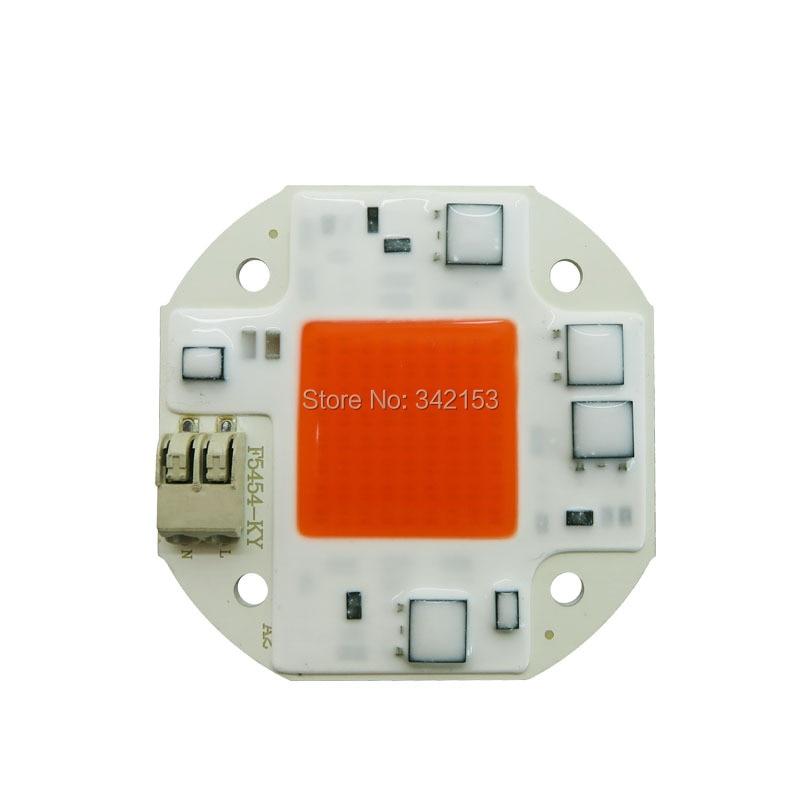 20 W 30 W 50 W F5454 Alta Tensión AC100-260V 380-840NM planta de espectro completo crece alta potencia emisor de Chips Led lámpara de iluminación