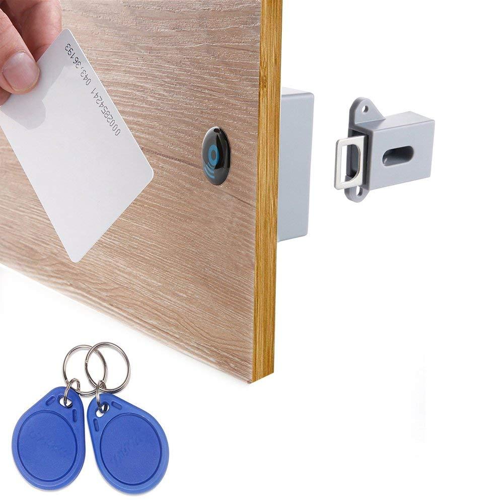 Bmby-invisible oculta RFID libre apertura inteligente Sensor armario cerradura armario guardarropa cajón del Gabinete Zapatero cerradura de puerta Electrón