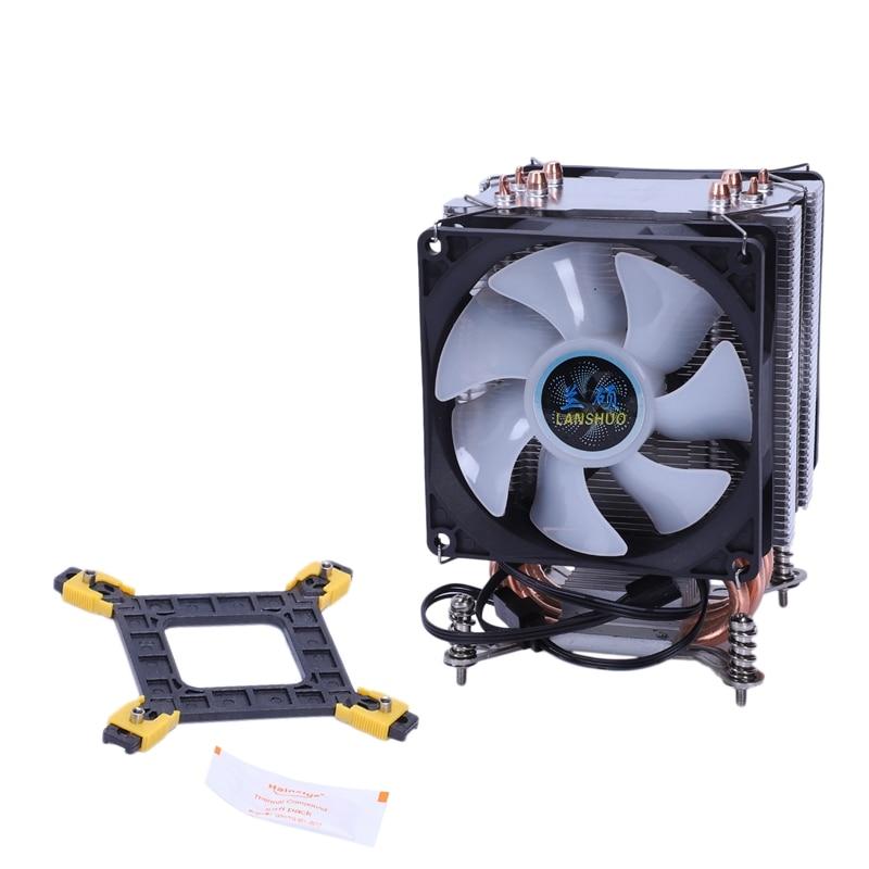 Enfriador procesador térmico de 4 tubos de calor de cobre puro Lanshuo para radiador Cpu Intel Multi-plataforma Lga/1150/1151/1155/1156/1366