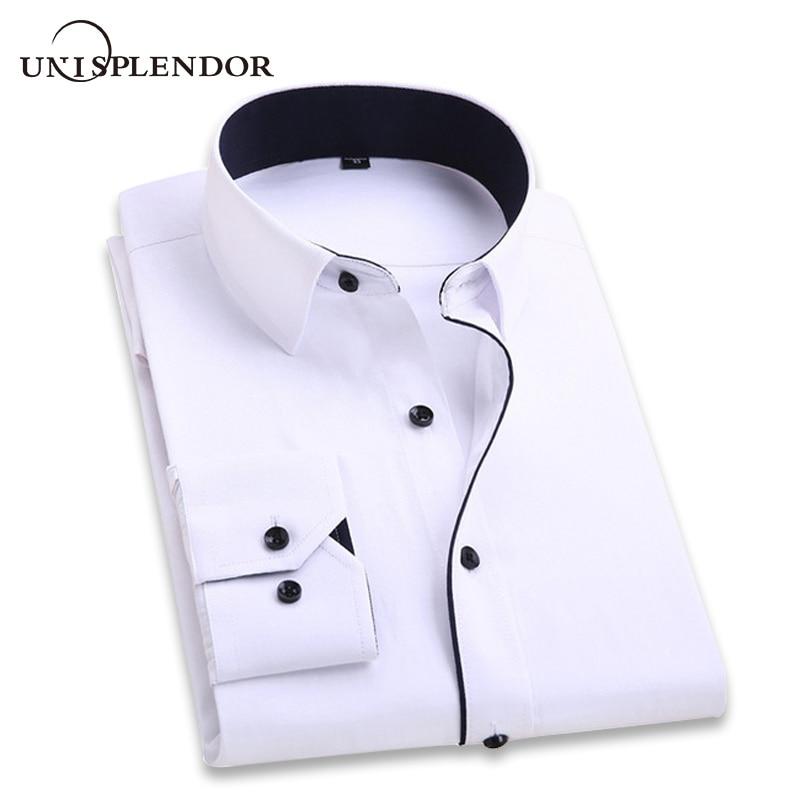 2020 homens camisa de casamento de manga comprida camisas de vestido homem festa de negócios sólido camisa casual trabalho wear formal magro camisa masculina yn554