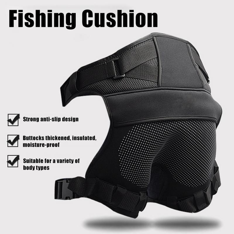 Nuovo Pesca Cuscino Super Soft Ultra-light Ultra-confortevole 100% Cotone Nero Adatto Per Il Mare E La pesca Di Roccia