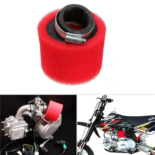 Limpiador de cápsula de filtro de aire de espuma en ángulo de 45 grados de 38mm ATV PIT DIRT BIKE 110cc 125cc rojo CRF50 XR50 CRF