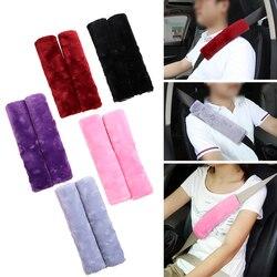 2 Pçs/set Cinto de Segurança Do Carro Capa de Pelúcia Macia Almofada de Ombro Confortável Dirigindo Automóveis Universal Caso Alça de Ombro Cinto De Segurança
