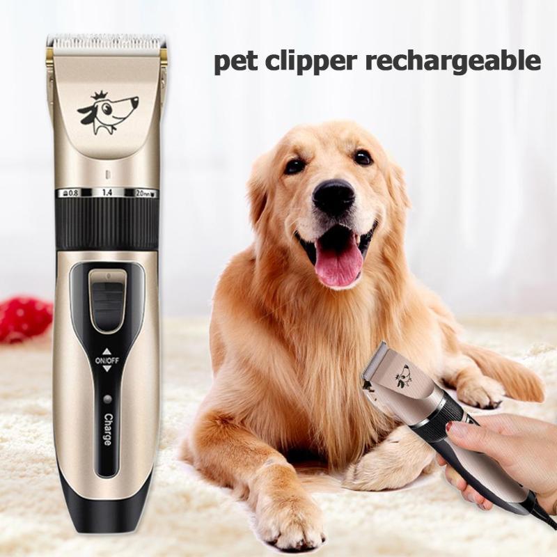 Pet Elektrische Clipper Wiederaufladbare Low-noise USB Haustier Hund Haar Trimmer Rasieren Elektrische Katze Hund Haar Trimmer Cutter Salon 2020