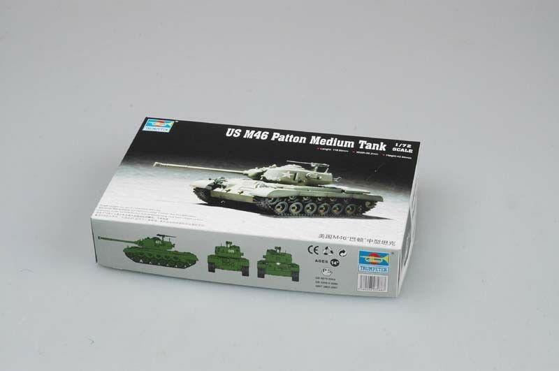 Trumpeter 07288 1/72 US M46 Patton, tanque mediano, modelo de plástico estático blindado, TH07175-SMT2 de coche
