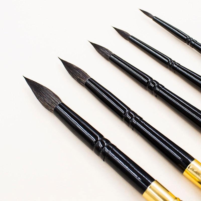 Travel Pen,travel brush,PT666 Squirrel hair,paint brush,paingting brush,art brush,paintbrushes,watercolor brush,ZYTANG enlarge