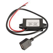 VODOOL-convertisseur de chargeur de voiture DC 12V à 5V 3A 15W   Régulateur de tension Module renversement avec prise USB pour DVR, lecteur de DVD électronique