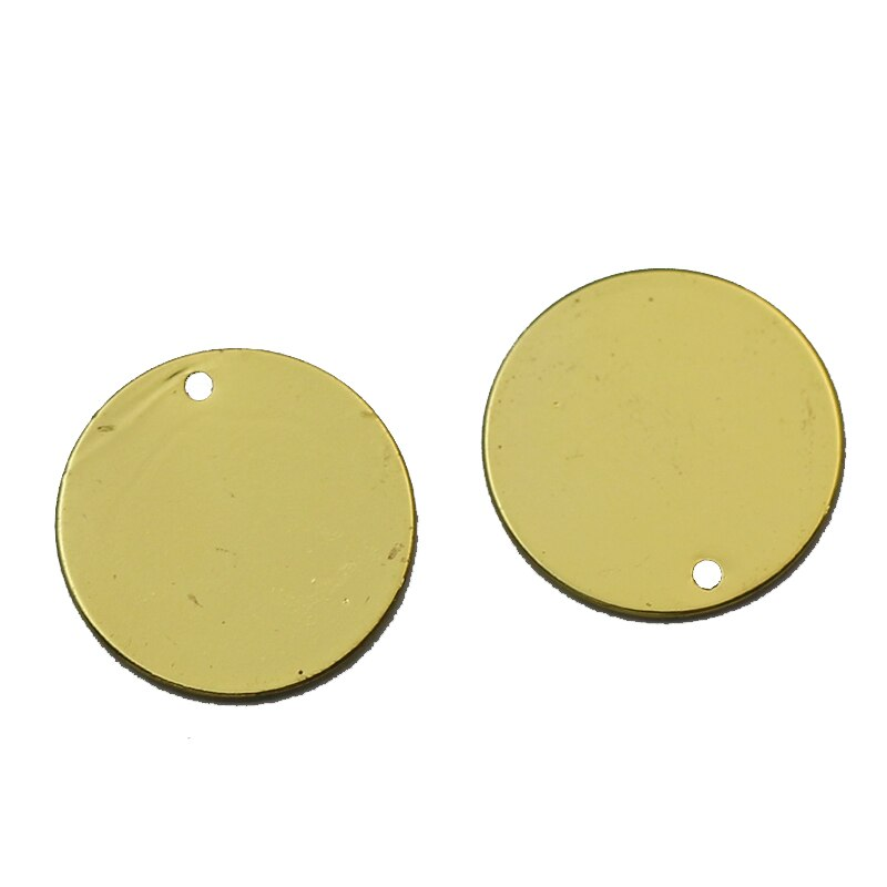 Beadsnice Stamping Blanks De Jóias de Bronze Redonda com Buraco Jewelry Making Achados 35137