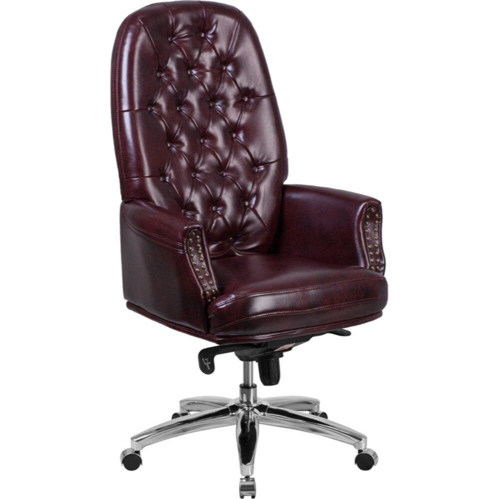 Кожаный многоцелевой вращающееся кресло руководителя с дужками