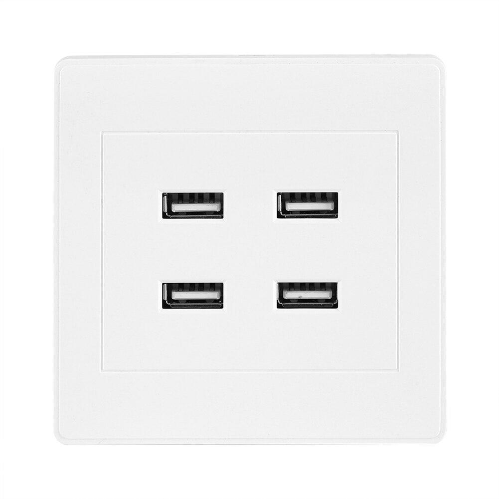 Prise électrique murale avec 4 Ports USB, 5V DC, pour la maison, le bureau, prise électrique