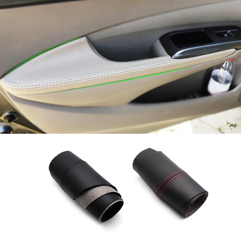 For Honda City 2008 2009 2010 2011 2012 2013 2014 Microfiber Leather Interior Center Control / Door Armrest Panel Cover Trim
